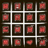 Smilies quadrados positivos Foto de Stock Royalty Free