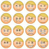 Smilies round, set Royalty Free Stock Image