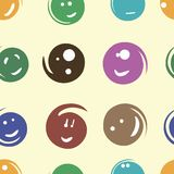 Smilies seamless texture Stock Photography