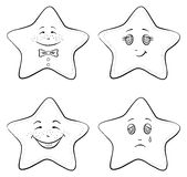 Smilies stars, contours Stock Photos