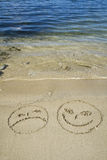 Smilies sur la plage Photo stock