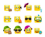 Smilies travelers Royalty Free Stock Images