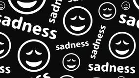 Smilies tristes sur l'obscurité banque de vidéos