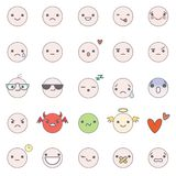Smilies vector icons Stock Photos