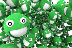 Smilies vert Image libre de droits