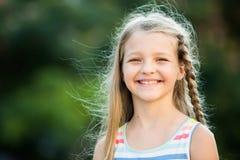Smilig girl portrait Stock Photos