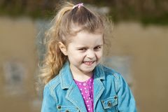 Smiling 4 year old girl. Stock Photography