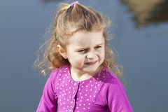Smiling 4 year old girl. Royalty Free Stock Images