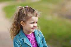 Smiling 4 year old girl. Royalty Free Stock Photography