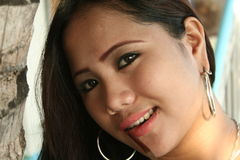 Smiling. A smiling filipina Stock Image