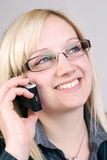 Smiling. Business Woman having a telephone call Royalty Free Stock Photo