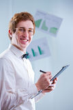 Smiling accountant royalty free stock photo