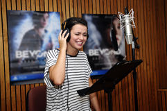 Smiling Actress at Recording Studio Stock Photography