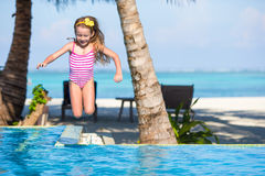 Smiling adorable girl having fun in outdoor Royalty Free Stock Photo