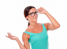 Smiling adult woman having an idea Royalty Free Stock Photo