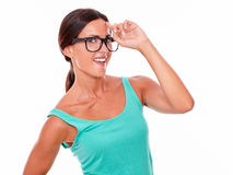 Smiling adult woman having an idea Stock Photography