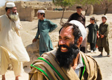 Smiling afghan villager stock photo