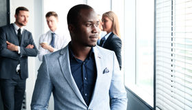 Smiling African American business man Royalty Free Stock Photos