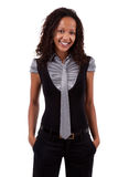 Smiling african american business woman Stock Photography
