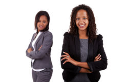 Smiling african american business woman Stock Photos