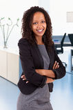 Smiling african american business woman Stock Image