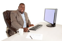 Smiling African American Businessman Royalty Free Stock Photography