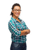 Smiling african american girl in eyeglasses Royalty Free Stock Photography