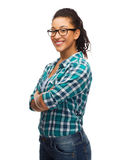 Smiling african american girl in eyeglasses Royalty Free Stock Photo