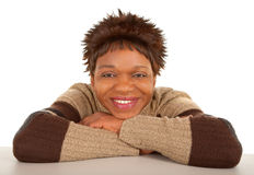 Smiling African American Lady Royalty Free Stock Photography