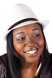 Smiling African American Woman In Hat Portrait Stock Photography