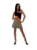 Smiling African American Woman Short Skirt Royalty Free Stock Photography