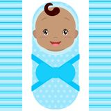 Smiling african baby boy isolated on white background. Vector vector illustration