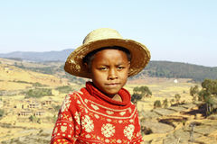 Smiling african boy with hat on head Royalty Free Stock Images