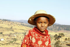 Smiling african boy with hat on head Stock Image