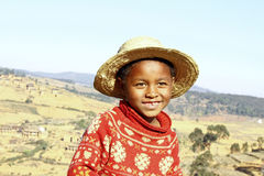 Smiling african boy with hat on head Royalty Free Stock Photos