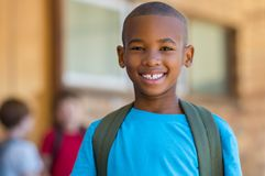 Smiling african school boy Royalty Free Stock Photography
