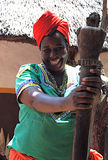 Smiling african woman, South Africa stock photography