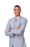 Smiling afro-american businessman Royalty Free Stock Image