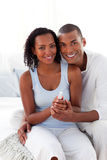 Smiling Afro-american couple Stock Photo