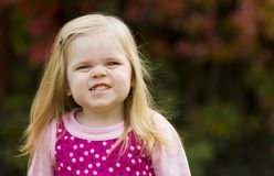 Young girl smiling royalty free stock photo