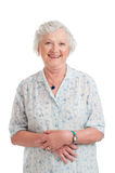 Smiling aged senior lady Royalty Free Stock Photo