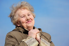 Smiling aged woman Royalty Free Stock Photo