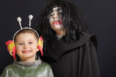 Smiling alien with vampire Royalty Free Stock Photos