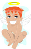 Smiling angel Stock Image