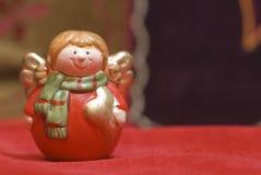 Smiling angel figurine Christmas Stock Photos