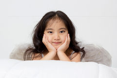Smiling of an angel Royalty Free Stock Image