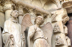 Smiling angel. Notre-Dame de Reims Cathedral. Reims, France Royalty Free Stock Image