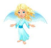 Smiling angel with wings Royalty Free Stock Photography