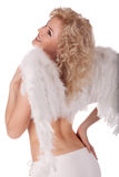 Smiling angel woman Royalty Free Stock Images