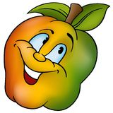 Smiling apple Royalty Free Stock Photo